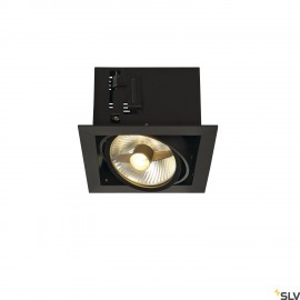 SLV 115540 KADUX 1 ES111 downlight,square , matt black, max. 50W