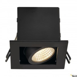 SLV 115700 KADUX LED DL SET, square, mattblack, 9W, 38°, 3000K, incl.driver