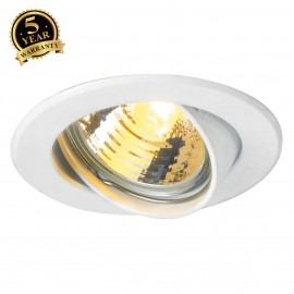 SLV 116111 GU10 SP downlight, round,white, max. 50W