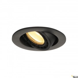 SLV 116310 SUPROS 78 DL recessed ceilinglight round, black, 3000K, 60°lens
