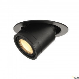 SLV 116320 SUPROS 78 MOVE recessedceiling light, round, black,3000K, 60° lens