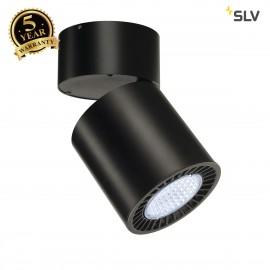 INTALITE 118180 SUPROS CL ceiling light, round, black, 4000lm, 4000K, SLMLED, 60° reflector