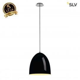SLV 133010 PARA CONE 30 pendant, round,black, E27, max. 60W