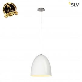 SLV 133011 PARA CONE 30 pendant, round,white, E27, max. 60W
