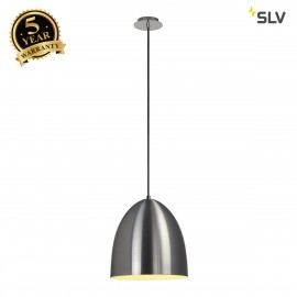 SLV 133015 PARA CONE 30 pendant, round,alu brushed, E27, max. 60W