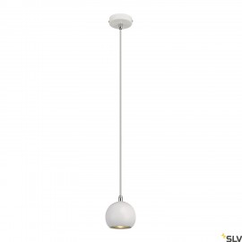 SLV 133491 LIGHT EYE BALL pendant,white/chrome, GU10, max. 5W