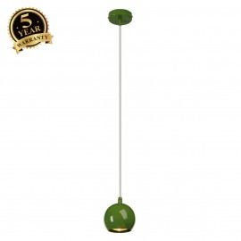 SLV 133495 LIGHT EYE BALL pendant, ferngreen, GU10, max. 5W