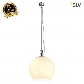 SLV 133511 SUN pendant, alu/white, E27,max. 75W