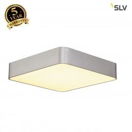 SLV 133824 MEDO 60 SQUARE ceiling light,square, silver-grey, 4xT5 24W