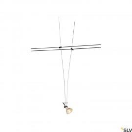 SLV ASMARA, for TENSEO low-voltage cable system, QR-C51, black, 1 pc