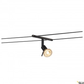 SLV SYROS, cable luminaire for TENSEO low-voltage cable system, QR-C51, black