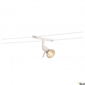 SLV SYROS, cable luminaire for TENSEO low-voltage cable system, QR-C51, white