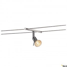 SLV SYROS, cable luminaire for TENSEO low-voltage cable system, QR-C51, chrome