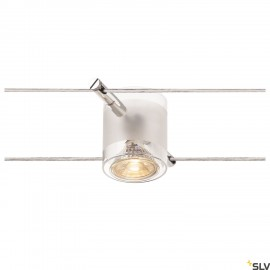SLV 139122 COMET, cable luminaire for TENSEO low-voltage cable system, QR-C51, chrome, semi-frosted glass