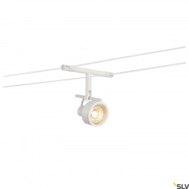 SLV SALUNA, cable luminaire for TENSEO low-voltage cable system, QR-C51, white