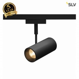 SLV REVILO LED Spot for 2 circuit High-voltage Track System, 2700K, black, 15°, incl. 2 circuit adapter 140200