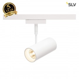 SLV REVILO LED Spot for 2 circuit High-voltage Track System, 2700K, white, 15°, incl. 2 circuit adapter 140201