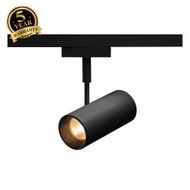 SLV 140230 REVILO, spot for SLV D-TRACK 2-phase high-voltage track, LED, 3000K, black, 36°, incl. 2-phase adapter