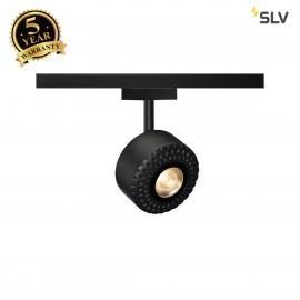 SLV 140250 TOTHEE, spot for SLV D-TRACK 2-phase high-voltage track, LED, 3000K, black, 15°, incl. 2-phase adapter