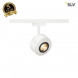 SLV TOTHEE, spot for SLV D-TRACK 2-circuit high-voltage track LED, 3000K, white, 15°, incl. 2-circuit adapter 140251
