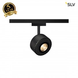 SLV TOTHEE LED Spot for 2 circuit High-voltage Track System, 3000K, black, 50°, incl. 2 circuit adapter 140260
