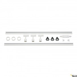 SLV 143191 1-CIRCUIT TRACK SET, 2x 1m,incl. 3x PURI and 3x 4.3W LEDlamp, white