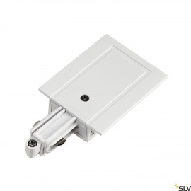 SLV 143231 Feed-in for 1-circuit track,recessed version, white, earthleft