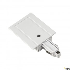 SLV 143241 Feed-in for 1-circuit track,recessed version, white, earthright