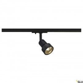 SLV PURI lamp head, black, GU10, max. 50W, incl. 1-circuit adapter 143390