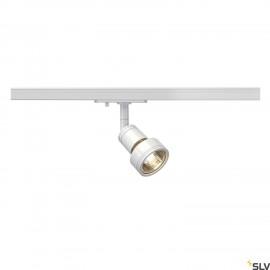 SLV PURI lamp head, white, GU10, max. 50W, incl. 1-circuit adapter 143391