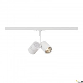 SLV BIMA II lamp head, matt white, 2x GU10, max. 2x50W, incl. 1-circuit adapter 143431