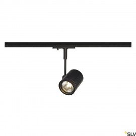 SLV BIMA I lamp head, black, GU10, max. 50W, incl. 1-circuit adapter 143440