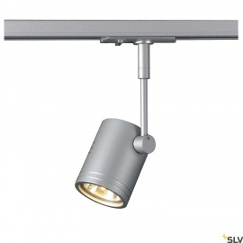 SLV BIMA I lamp head, silver-grey, GU10, max. 50W, incl. 1- circuit adapter 143442