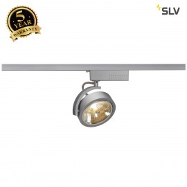 SLV 143464 KALU TRACK QRB111 SPOT,silver-grey, max. 50W, incl.1-circuit adapter