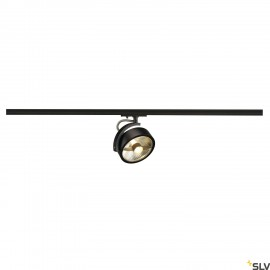 SLV KALU TRACK QPAR111 lamp head, black, incl. 1-circuit adapter 143540