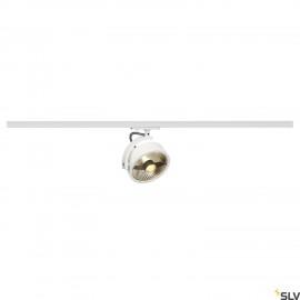 SLV KALU TRACK QPAR111 lamp head, white, incl. 1-circuit adapter 143541