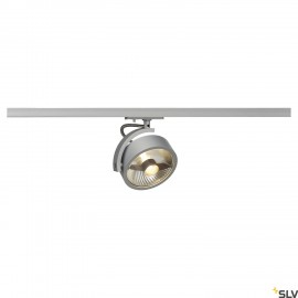 SLV KALU TRACK QPAR111 lamp head, silver-grey, incl. 1-circuit adapter 143544