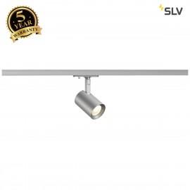 SLV 143574 DEBASTO Spot, silver-grey, 8W,3000K, incl. 1-circuitadapter