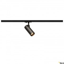 SLV HELIA 50 LED Spot for 1 circuit High-voltage Track System, 3000K, black, 35°, incl. 1 circuit adapter 143580