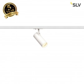 SLV HELIA 50 LED Spot for 1 circuit High-voltage Track System, 3000K, white, 35°, incl. 1 circuit adapter 143581