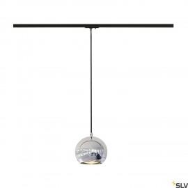 SLV LIGHT EYE ES111 pendant, chrome, GU10, max. 75W, incl. 1-circuit adapter 143620