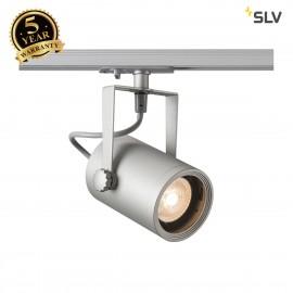 SLV EURO SPOT GU10, silver-grey, max. 25W, incl. 1-circuit adapter 143814