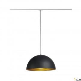 SLV 143930 FORCHINI M pendant, 40cm,round, black/gold, E27, incl.silver 1-circuit adapter