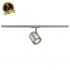 SLV 143954 ENOLA_C SPOT, round,silver-grey, 9W LED, 3000K,55° , incl. 1-circuit adapter