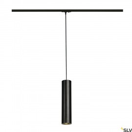 SLV ENOLA_B PD-1 pendant, black, GU10, max. 50W, incl. 1-circuit adapter 143960