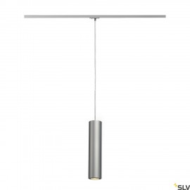 SLV ENOLA_B PD-1 pendant, silver-grey/black, GU10, max. 50W, incl. 1-circuit adapter 143964