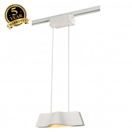 SLV 144001 WAVE PENDANT, white, 9W LED,3000K, incl. 1-circuit adapter