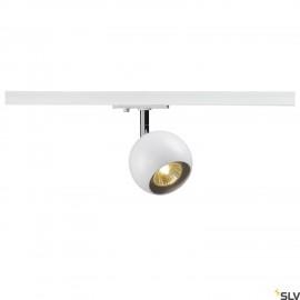 SLV LIGHT EYE 1 GU10 SPOT, white/chrome, GU10, max. 50W, incl. 1-circuit adapter 144011