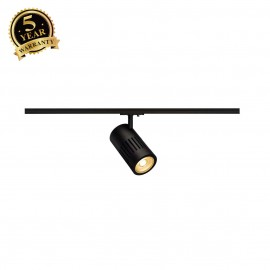 SLV 144100 STRUCTEC LED 24W, round, black, 3000K, 36°, incl. 1-phaseadapter