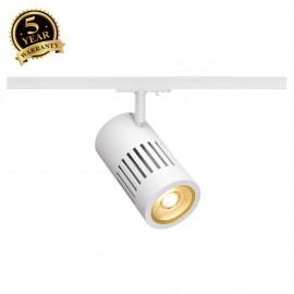 SLV 144101 STRUCTEC LED 24W, round, white, 3000K, 36°, incl. 1-phaseadapter